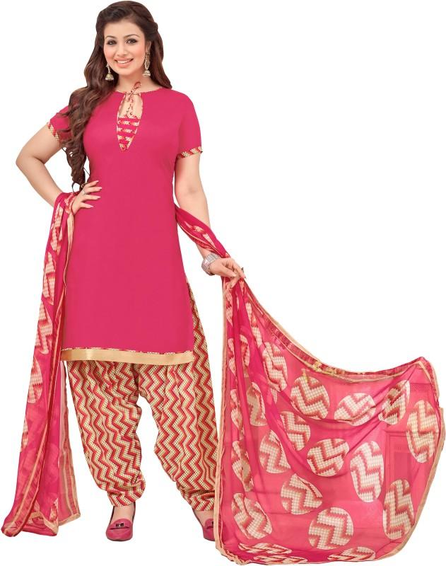 Women Latest Fancy Designer Salwar Suit Cotton Blend Embellished, Solid Salwar Suit Material(Unstitched)