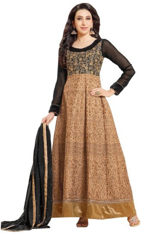 Azy Fabrics Georgette Embroidered Salwar Suit Dupatta Material(Un-stitched)