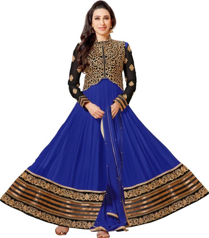 MF Retail Georgette Self Design Dress/Top Material(Un-stitched)