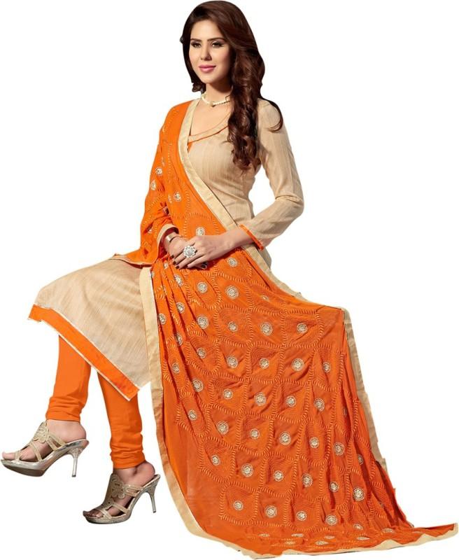 Saara Jute Embroidered Salwar Suit Dupatta Material(Un-stitched)