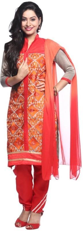 Chhabra 555 Cotton Embroidered Salwar Suit Dupatta Material(Un-stitched)
