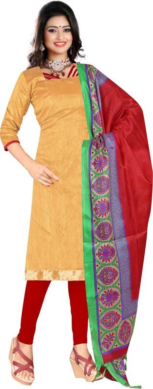 Women Latest Fancy Designer Salwar Suit Poly Silk Embellished, Solid Salwar Suit Material(Semi Stitched)