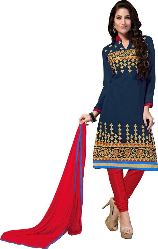 Khushali Georgette Self Design, Embroidered Salwar Suit Dupatta Material(Un-stitched)