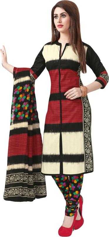 Salwar Studio Crepe Printed Salwar Suit Dupatta Material(Un-stitched)