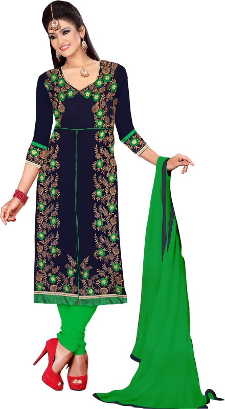 Women Latest Fancy Designer Salwar Suit Poly Georgette Embroidered Salwar Suit Material(Unstitched)