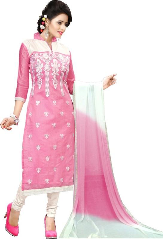 Fashion Ritmo Chanderi Embroidered Salwar Suit Dupatta Material(Un-stitched)