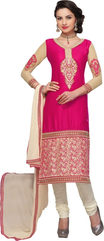 Saara Cotton Embroidered Dress/Top Material(Un-stitched)