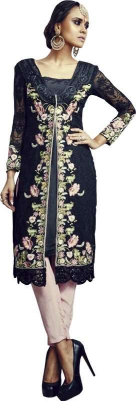 MF Retail Georgette Embroidered Dress/Top Material(Un-stitched)