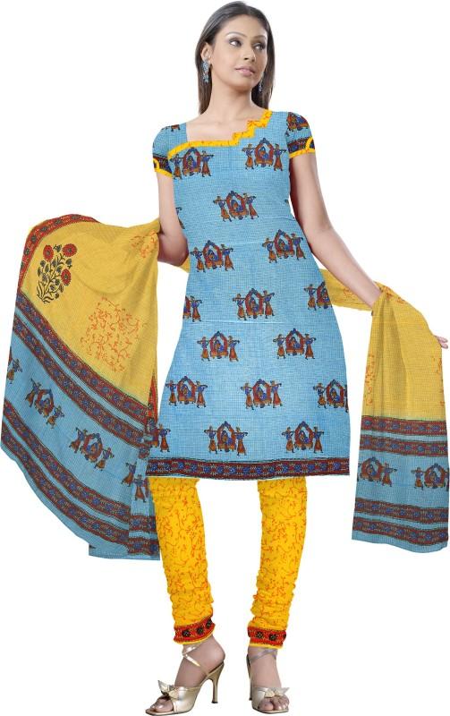 Fab Rajasthan Cotton Printed Salwar Suit Dupatta Material(Un-stitched)