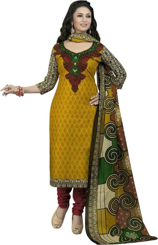 Kloris Designer Cotton Blend Printed Salwar Suit Material(Unstitched)