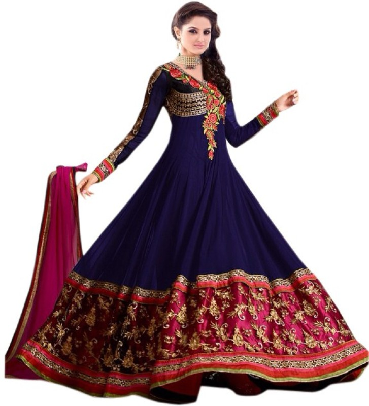 Today Deal Georgette Embroidered Semi-stitched Salwar Suit Dupatta Material