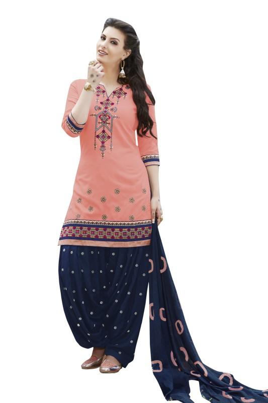 Kvsfab Cotton Embroidered Salwar Suit Dupatta Material(Un-stitched)