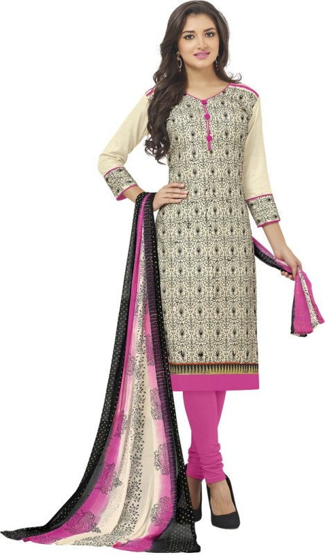 Saara Cotton Embroidered Salwar Suit Dupatta Material(Un-stitched)