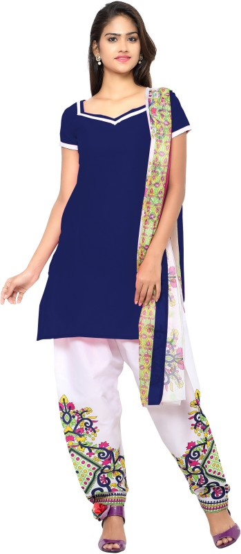 MF Retail Cotton Silk Blend Printed Salwar Suit Dupatta Material(Un-stitched)