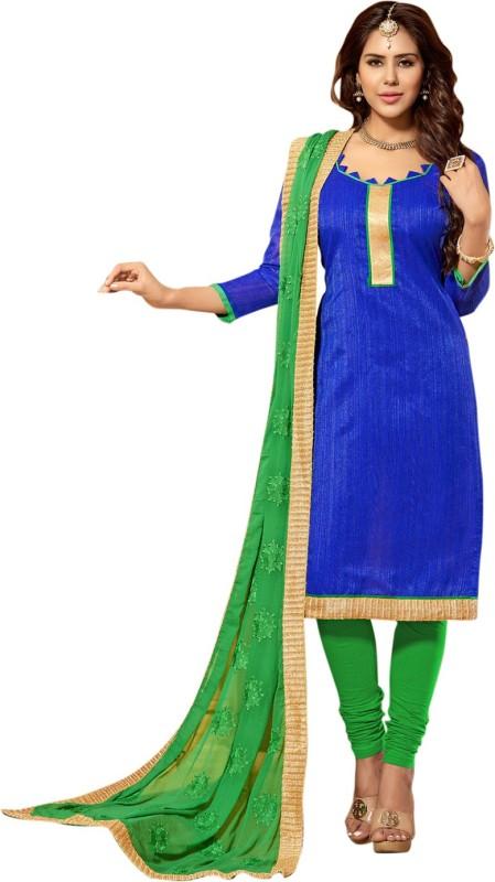 Saara Cotton Silk Blend Self Design Salwar Suit Dupatta Material(Un-stitched)