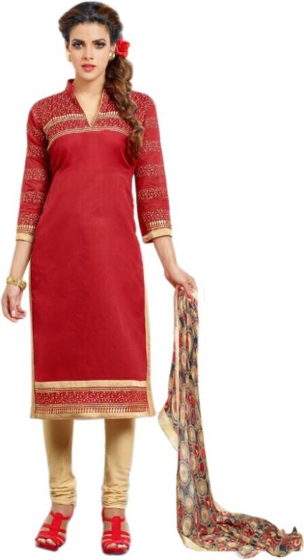 Styles Closet Chanderi Embroidered Salwar Suit Dupatta Material(Un-stitched)