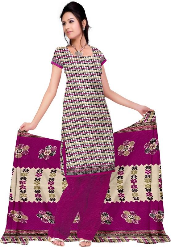 Aasvaa Cotton Printed Salwar Suit Dupatta Material(Un-stitched)