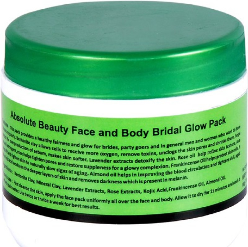Absolute Beauty Bridal Party Goers Instant Glow Skin Care Face Pack(450 g)