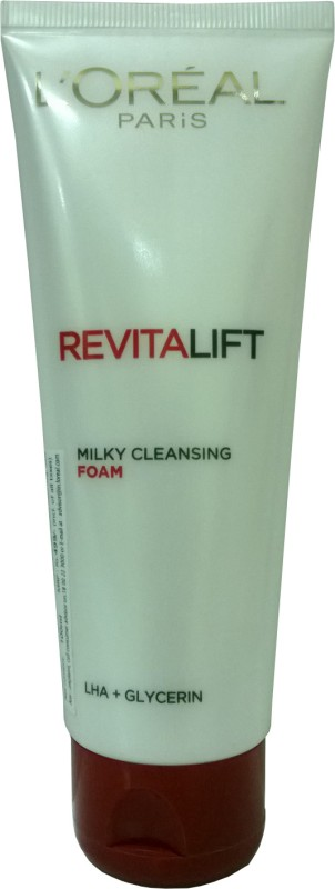 LOreal Paris Revitalift Milky Cleansing Foam LHA+Glycerin Face Wash(100 ml)
