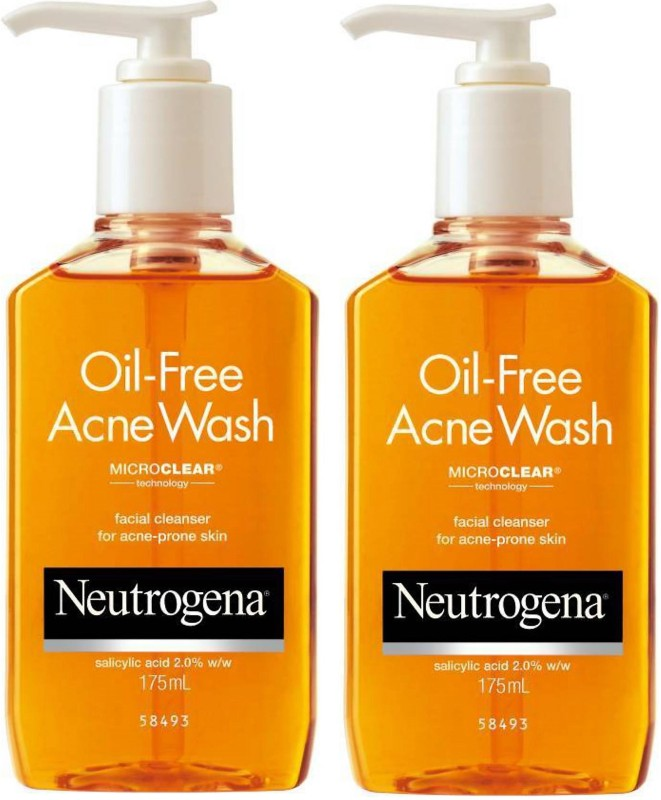 Neutrogena Oil Free Acne Face Wash Super Saver {Pack Of 2 } Face Wash(350 ml)