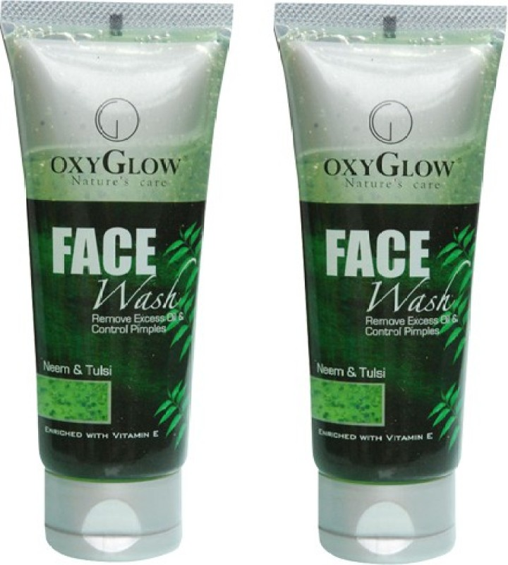 Oxyglow Neem & Tulsi Pack of 2 Face Wash(100 ml)