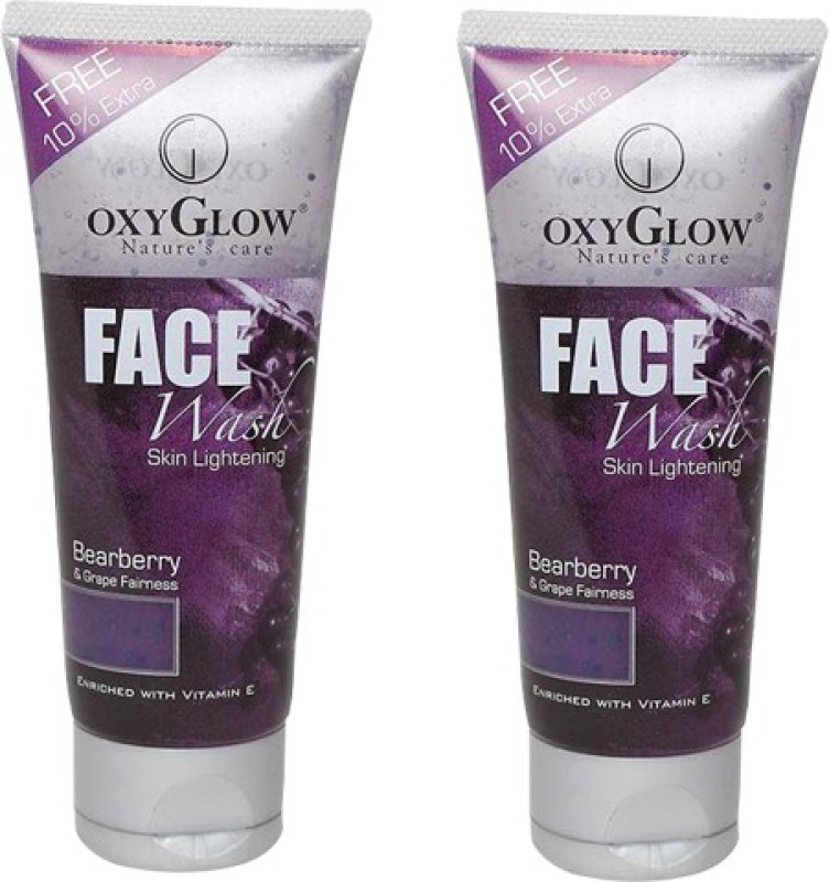Oxyglow Bearberry & Grape Fairness Pack of 2 Face Wash(100 ml)