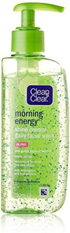 Clean & Clear Morning Energy Shine Control Daily Facial Wash (Imported Made In Greece) Face Wash(151 ml)