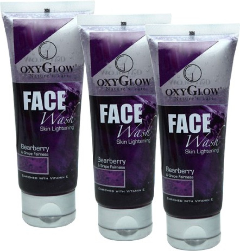 Oxyglow Bearberry & Grape Fairness Pack of 3 Face Wash(300 ml)