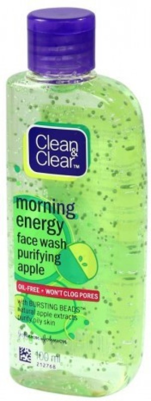 Clean & Clear Morning Energy Purifying Apple with bursting beads Face Wash(100 ml)