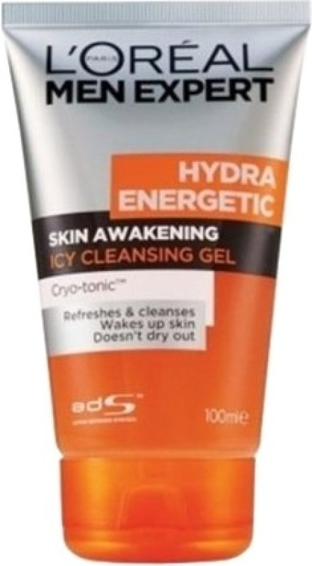 LOreal Paris Men Expert Hydra Energetic Skin Awakening Icy Cleansing Gel Face Wash(100 ml)