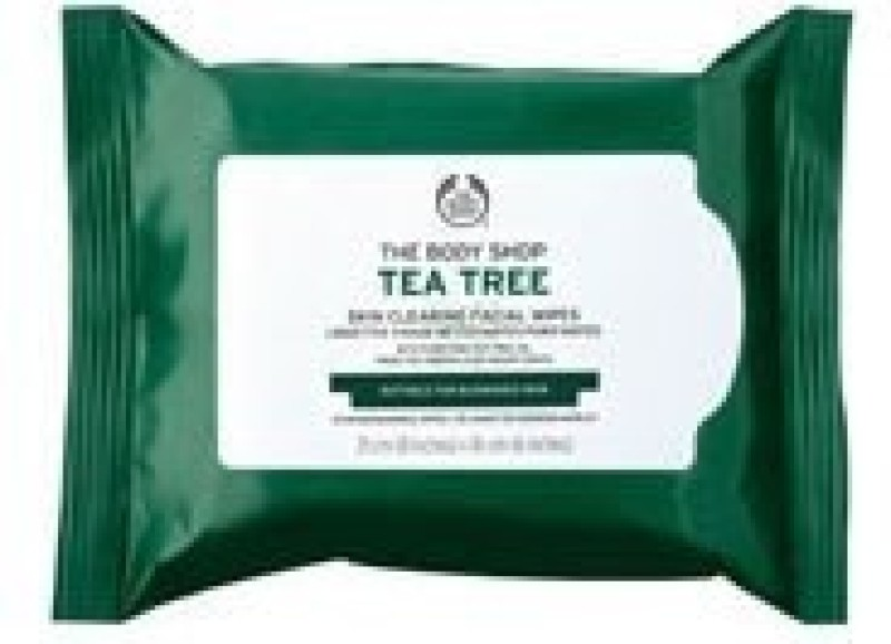 The Body Shop Tea Tree Cleansing Wipes(Pack of 25)