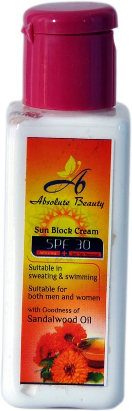 Absolute Beauty Women Men Ladies College Teen Girls SPF 30 Skin Body Care Sun Block Cream(50 ml)