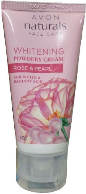 Avon Naturals Whitening Powdery Cream Rose & Pearl Cream(50 g)