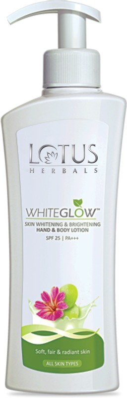 Lotus HERBALS WHITEGLOW Skin Whitening & Brightening Hand & Body Lotion SPF-25 I PA+++(300 ml)
