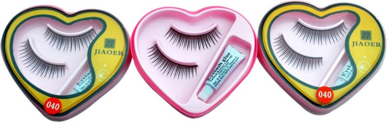 AARIP Eye Lashes with Lashes Glue (Combo)(Pack of 6)