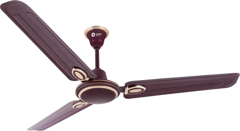Orient Electric Pacific Air Decor 1200 mm 3 Blade Ceiling Fan(Brown, Pack of 1)