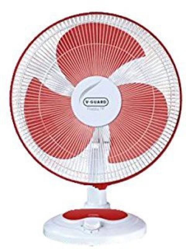 V-Guard Finesta Table Fan 400mm 0 mm 3 Blade Table Fan(Red, Pack of 1)