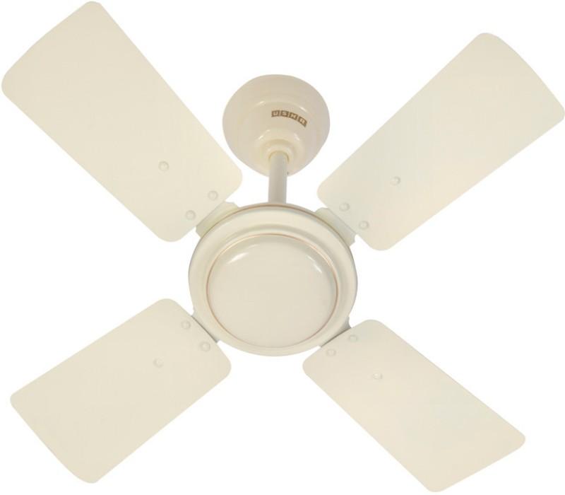 Usha Swift 4 Blade Ceiling Fan(IvoryYellow)