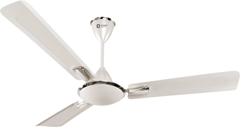 Orient Electric Gratia 1200 mm 1200 mm 3 Blade Ceiling Fan(PEARL METALLIC-WHITE, Pack of 1)