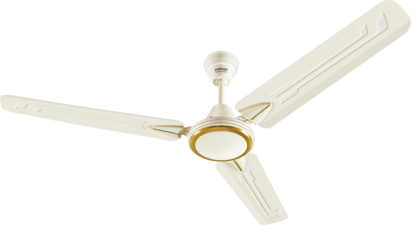 Eveready Super Fab M 3 Blade Ceiling Fan(Cream)
