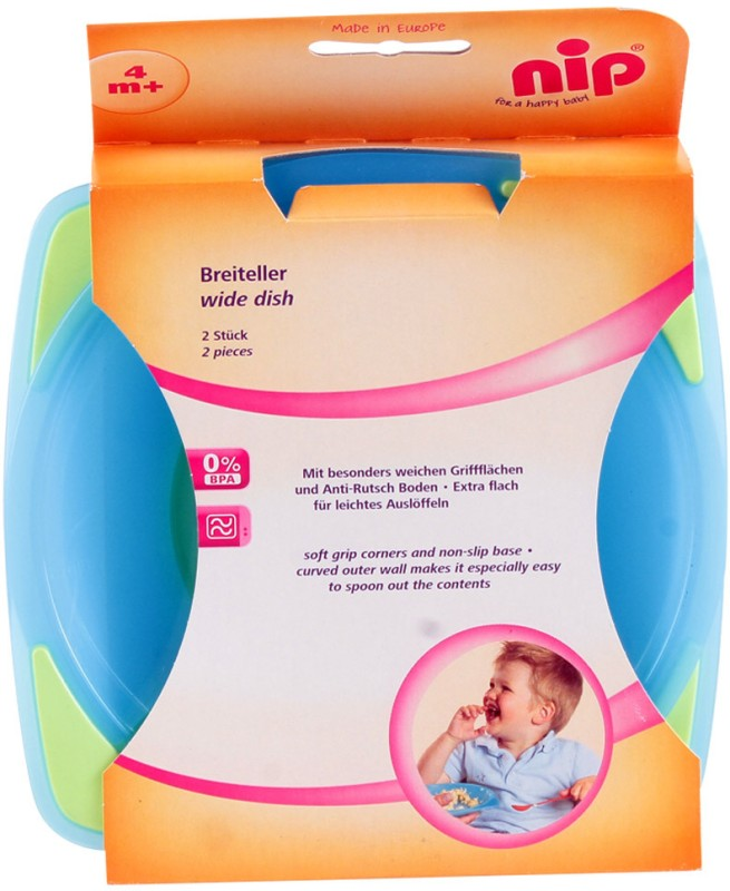 Nip Soft Grip Plate - 2 Pack  - Plastic(Multicolor)