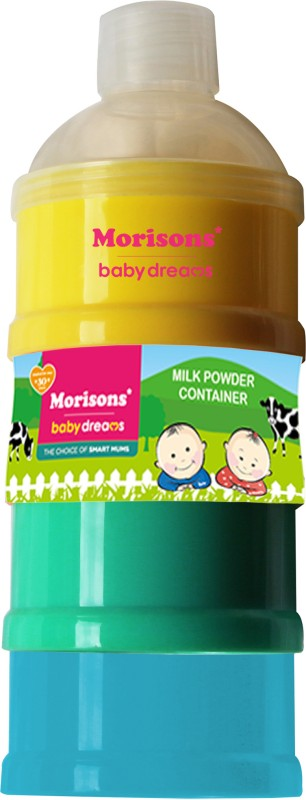 Baby Dreams Milk Powder Container  - Plastic(Silver, Yellow)