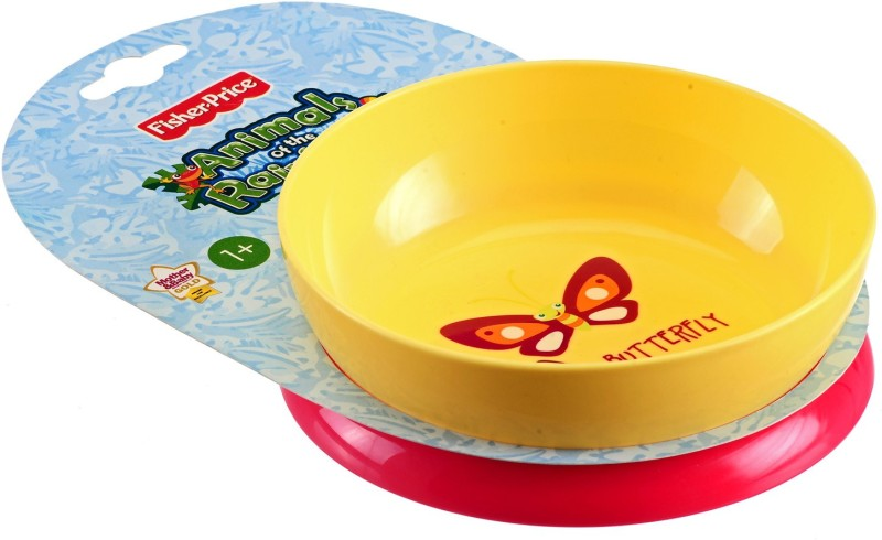 Fisher-Price TIP ME NOT BOWL  - FOOD GRADE PLASTIC(Red, Yellow)