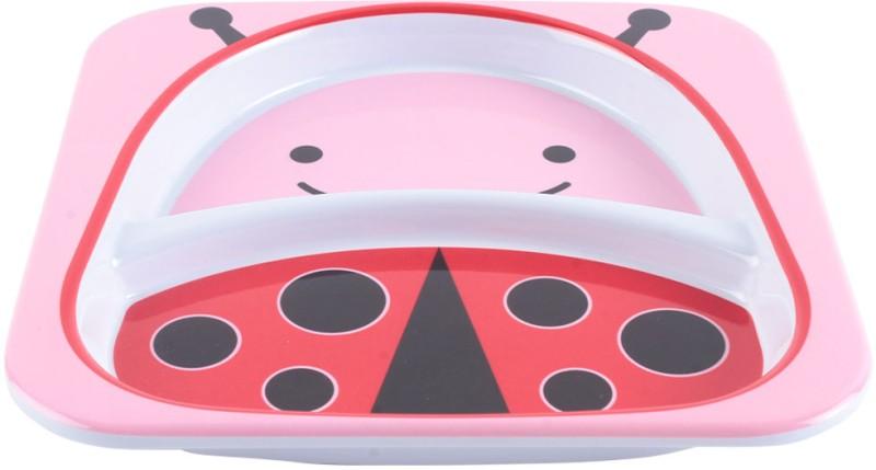 Skip Hop Skip Hop Zoo Divided Plate - Ladybug  - Plastic(Pink)