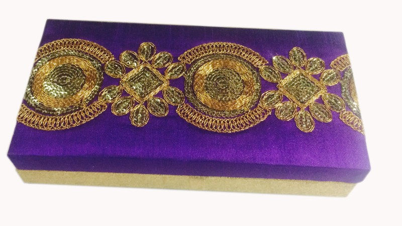 Loops n knots cc111 Wooden, Silk Gift Box(Purple)