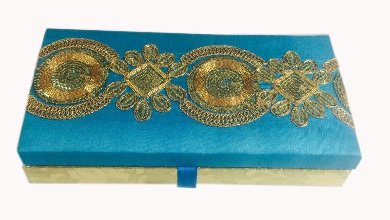 Loops n knots cc111 Wooden, Silk Gift Box(Blue)