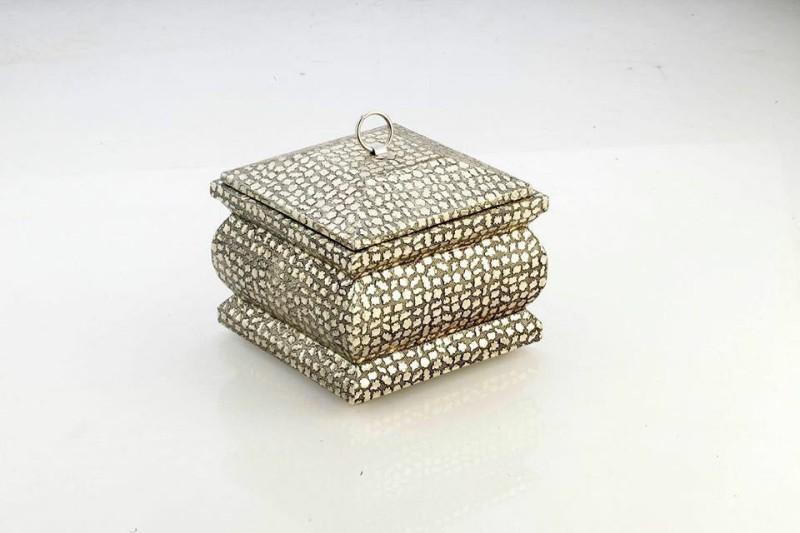 Pc Art International Dry fruit/chocolate Wooden, Aluminium Gift Box(Silver, Gold)