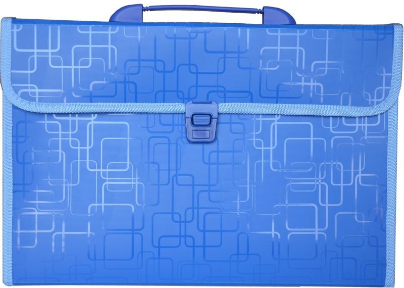 Polen Expanding Series Plastic FC size Folder (A4 Compatible)(Set Of 1, Dark Blue)