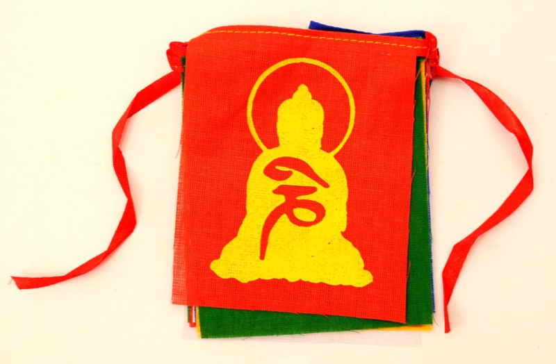 My Earth Store Tibetan Rectangle Outdoor Flag Flag(Cotton)