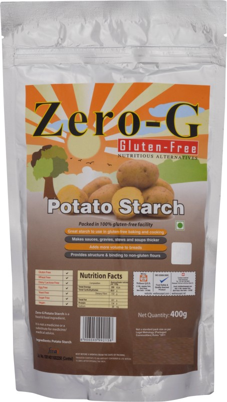 Zero-G Potato Starch pack of 2(400 g, Pack of 2)